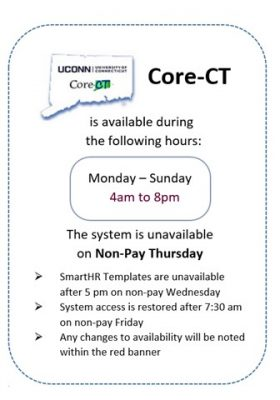 Core-CT Resource Page | UConn Employee Self Service Portal
